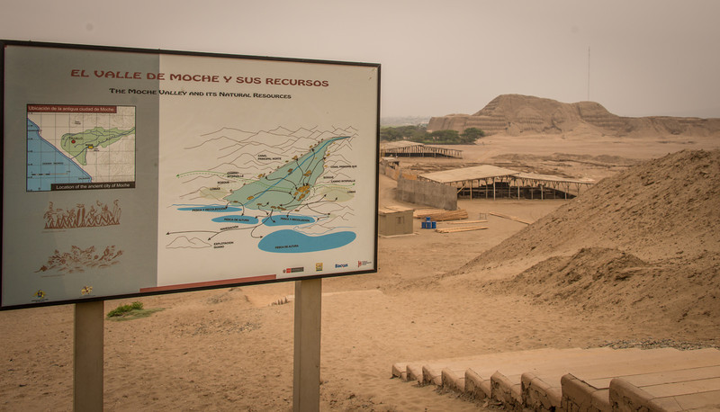 Moche Valley - Huaca del Sol - Pyramid of the Sun- circa 1000 BCE