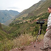"""Sacred Valley - En Route to Pisac<br /> The """"videographer"""" in action."""