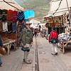 Pisac<br /> We have to make our way through the tourist market to get to the colorful local market.