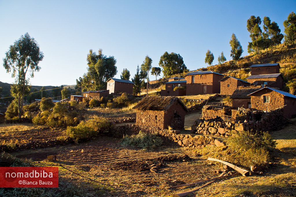 The houses in Capachica (Puno), Peru