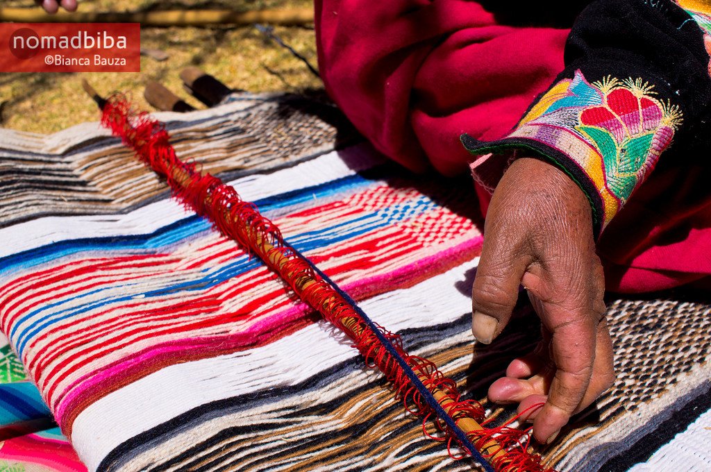 Weaving work in Capachica (Puno), Peru