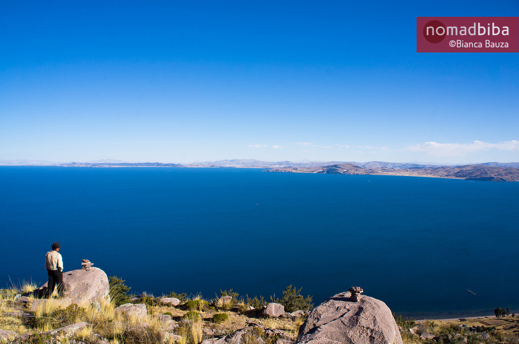 View of Titikaka Lake from Capachica, Peru