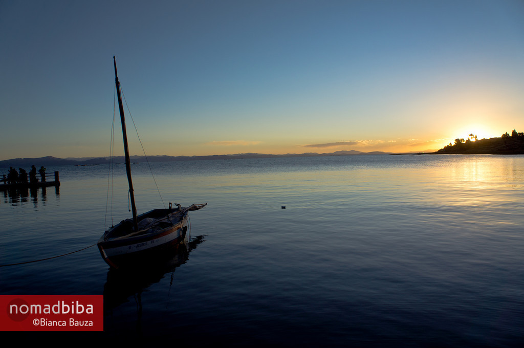 Sunset in the Titicaca Lake, Capachica (Peru)