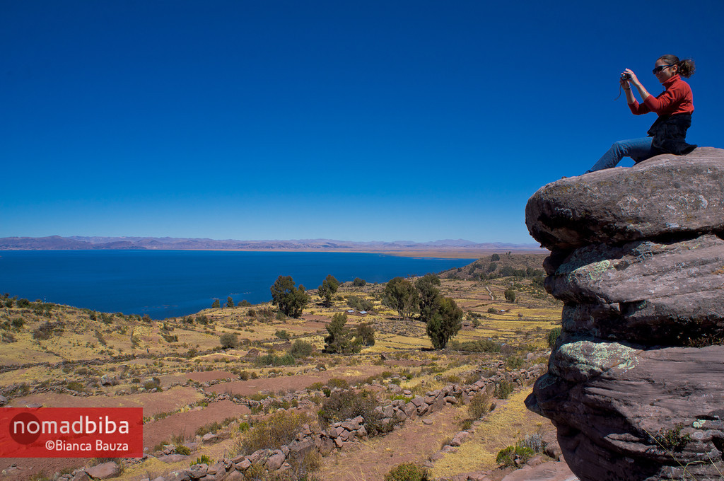 Looking over at the Titicaca Lake in Peru