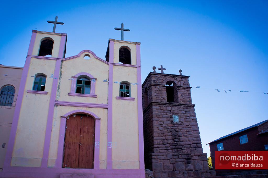 Church in Llachón, Capachica (Puno), Peru