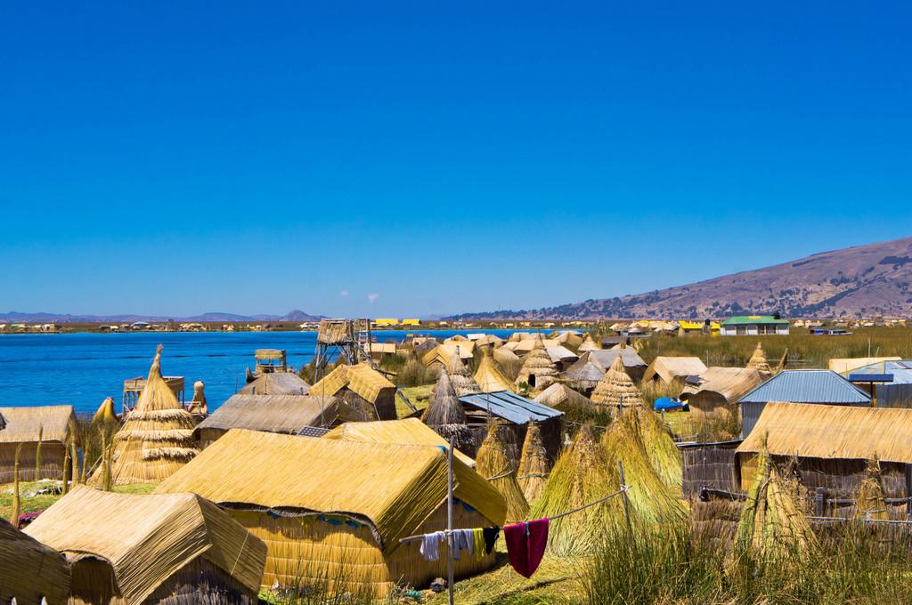 View of the Uros Islands, Peru