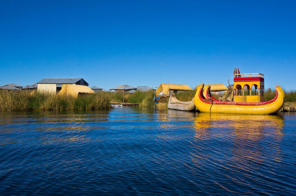 Uros floating islands in Peru