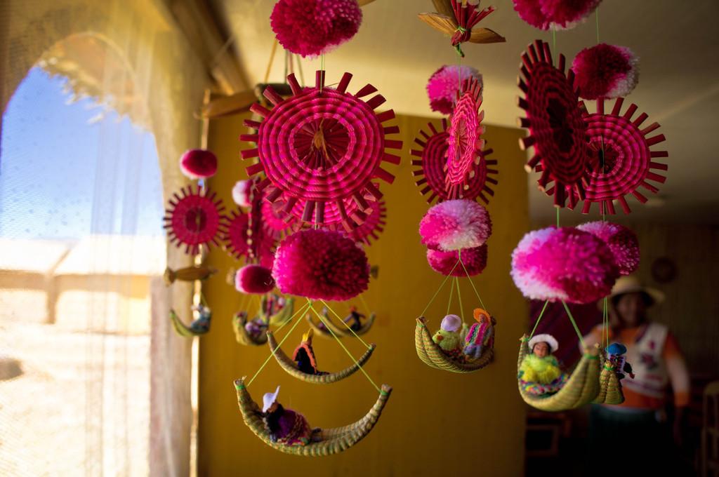 Crafts in the Uros Islands, Peru