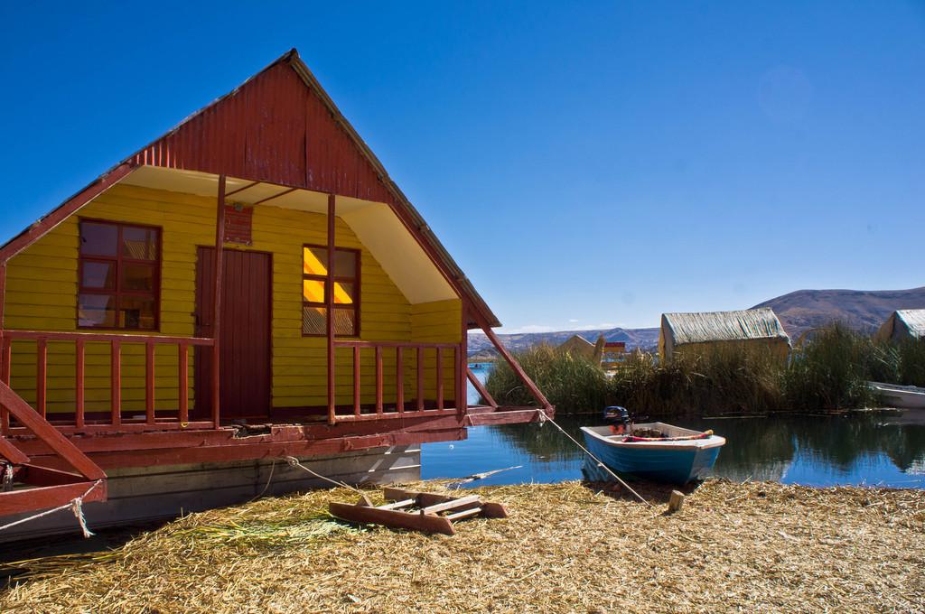 Uros school house in Peru