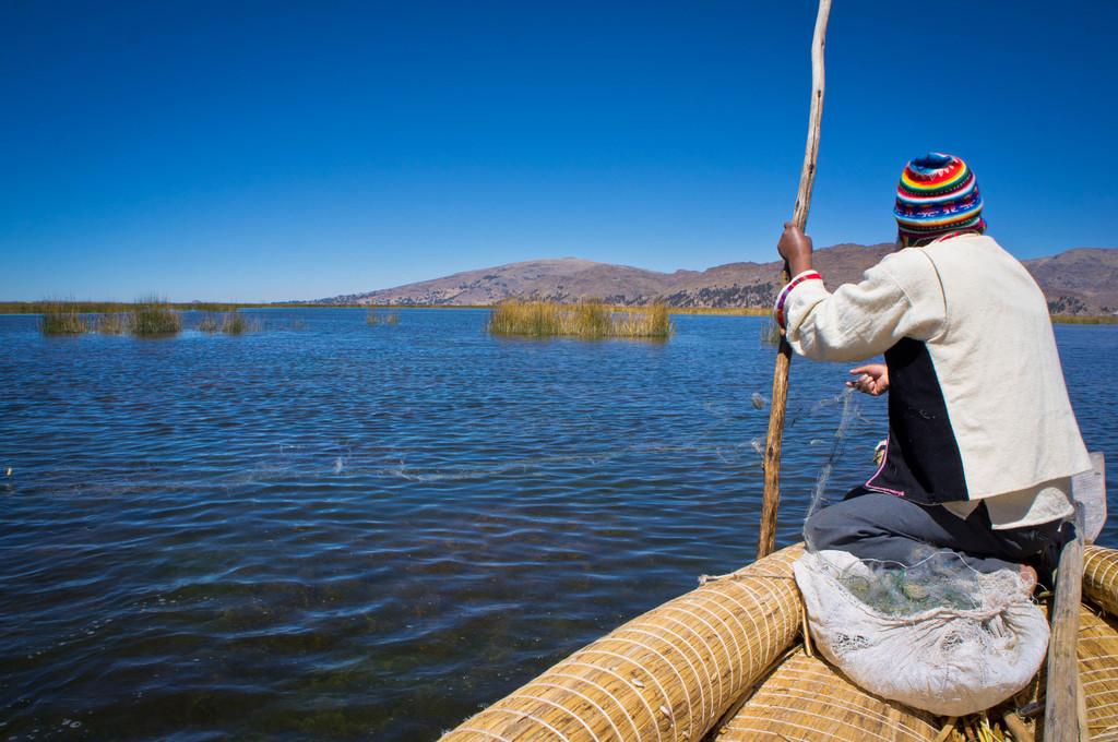 Fishing in Lake Titicaca, Peru