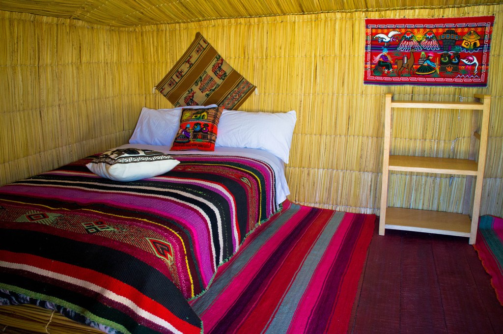 Bedroom in Uros Islands, Peru