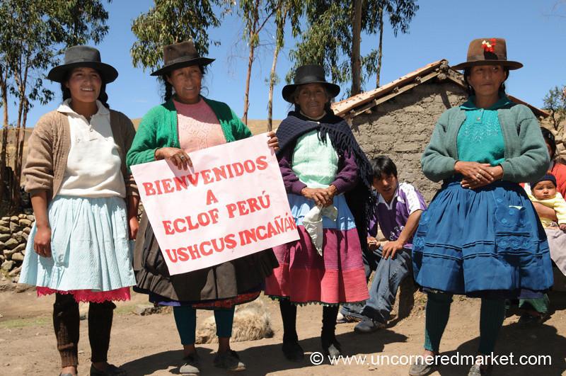 Welcoming Committee in Ucchus, Peru
