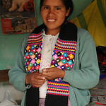 Showing Off Her Products - Yauli, Peru
