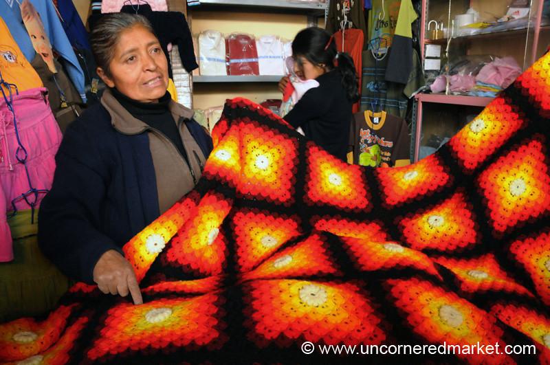 Beautifully Crocheted Blanket - Huancavelica, Peru