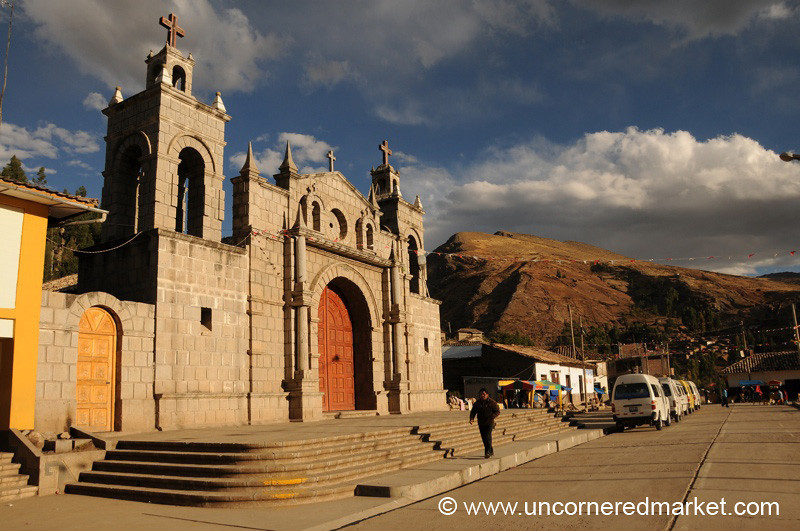 Main Square in Yauli, Peru