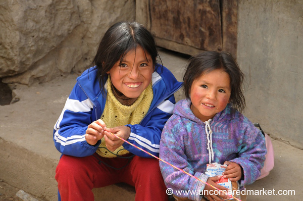 Shy Kids in Yauli, Peru