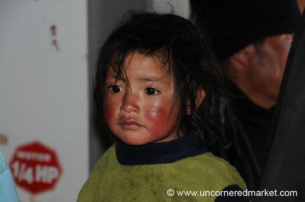 Wind and Sun-Burnt Cheeks - Chacarilla, Peru