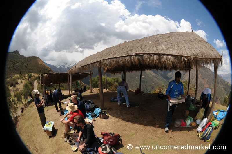 A Fisheye Lunch on Route to Salkantay Glacier - Peru