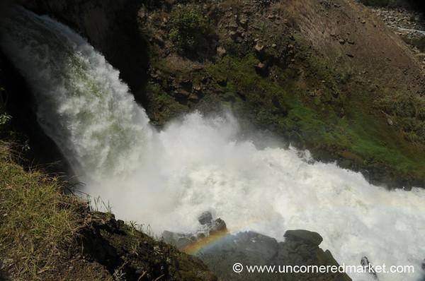 Rainbow at Hidroelectrica - Day 4 of Salkantay Trek, Peru