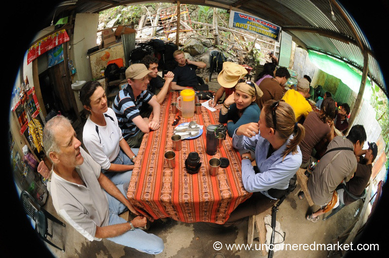 Fisheye Group Lunch - Day 4 of Salkantay Trek, Peru