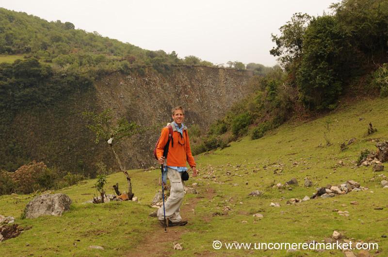 Dan Hiking on Day 3 of Salkantay Trek, Peru