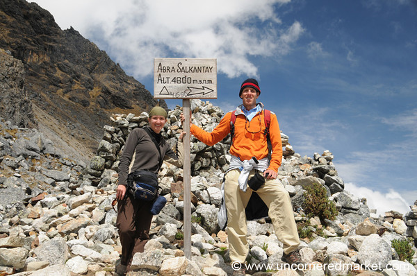 Making it to the Pass (4,650 meters) at Salkantay Mountain - Peru
