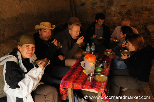 A Welcome Lunch after Crossing the Pass - Day 2 of Salkantay Trek, Peru