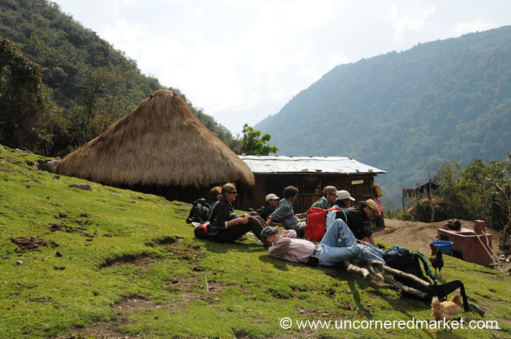 Taking a Break - Day 2 of Salkantay Trek, Peru