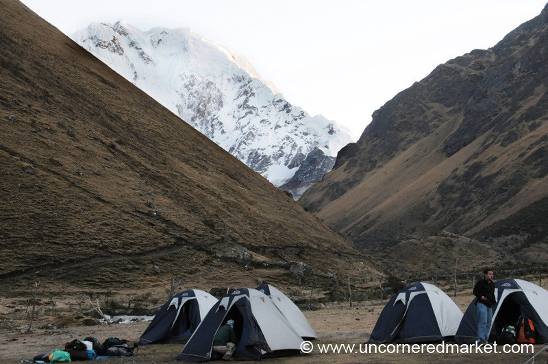 Camping at the Base of Salkantay Glacier - Peru