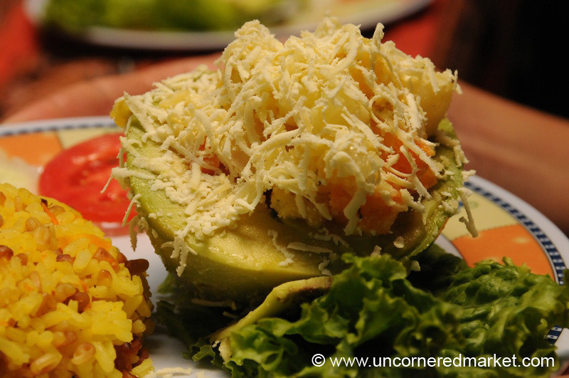 Avocado Relleno - Day 4 of Salkantay Trek, Peru