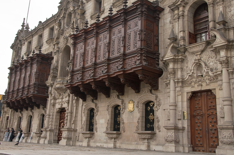 Lima, Peru, known for its balconies where ladies could view the street without being seen