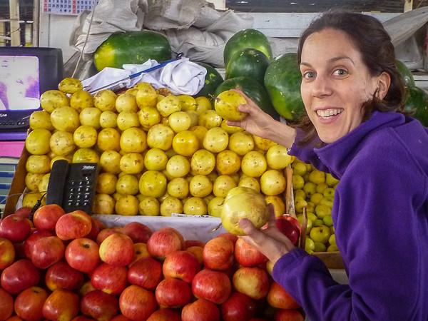 Tropical fruit including my favorite--passion fruit! San Pedro Market Cusco, Peru