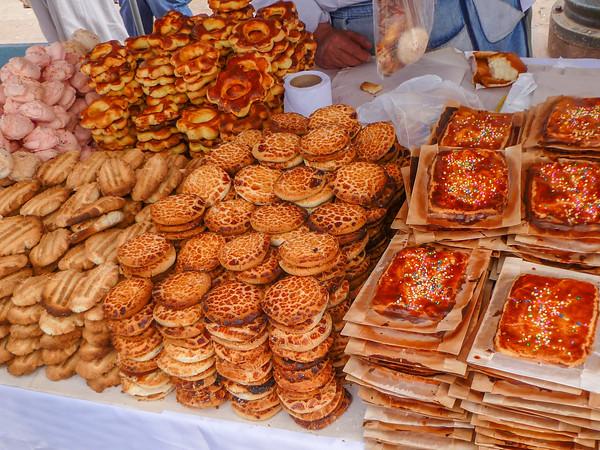 Beautiful pastries at San Pedro Market Cusco, Peru
