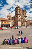 Plaza de Armas and La Compania de Jesus, Cusco, Peru.