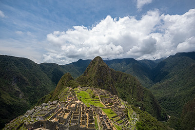 first view Machu Picchu