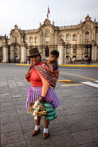 street vendor and child Lima