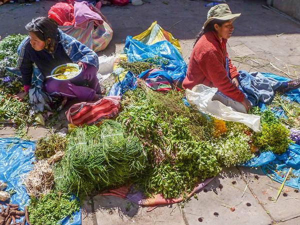 Fresh foraged herbs | Things to buy at San Pedro Market Cusco, Peru