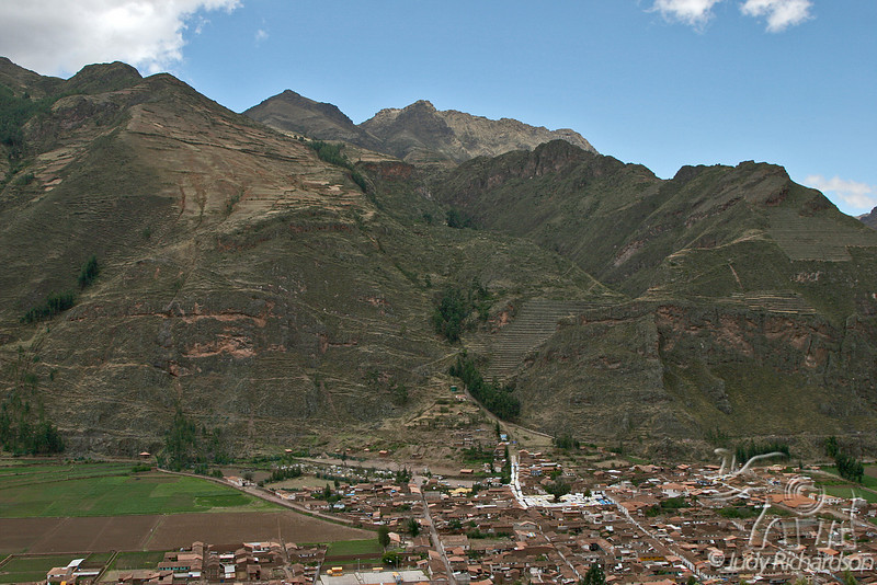 Overlooking Pisac, Peru in Sacred Valley