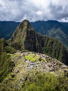 full sun Machu Picchu