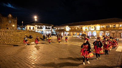 dancers Plaza Mayor Haucaypata Cusco