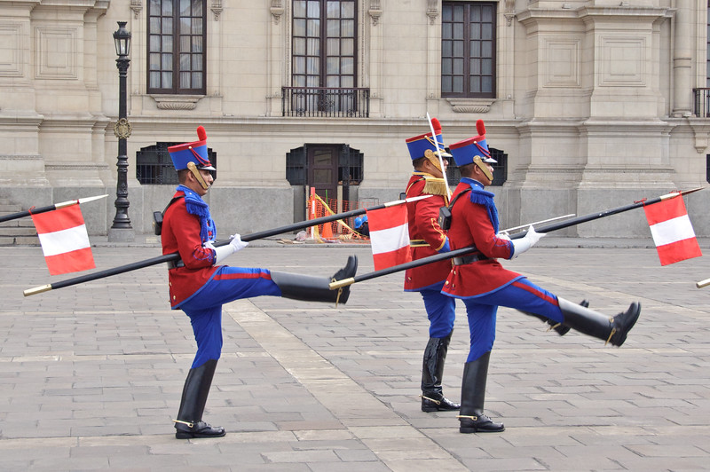 Guards at President's Palace, Lima, Peru