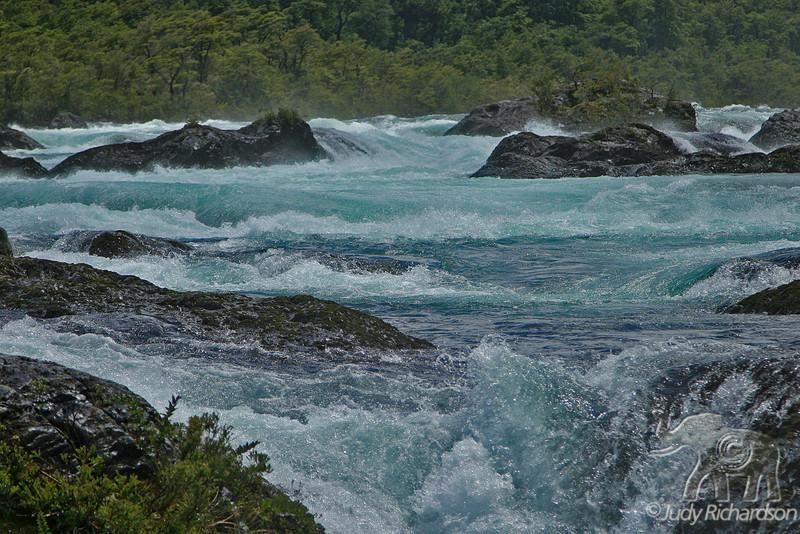 Glacieral Blues of  Petrohue Falls