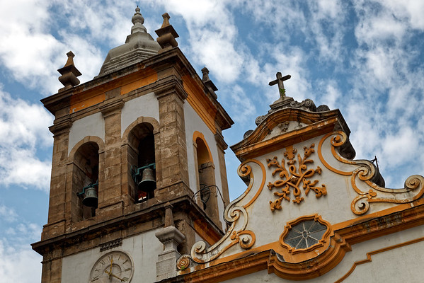 The bell tower of Matriz de Santa Rita in the Centro district of Rio