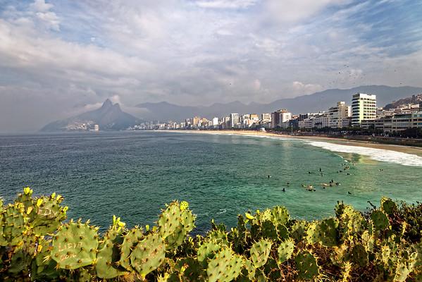 Ipanema Beach from the Arpoador Rocks, Rio
