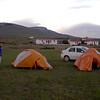 Pa 2012 kampeerplek bij Torres de Paine NP