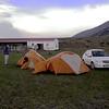 Pa 2013 kampeerplek bij Torres de Paine NP