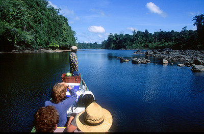 Central Suriname Nature Reserve - Coppename River, tourists in boat #2