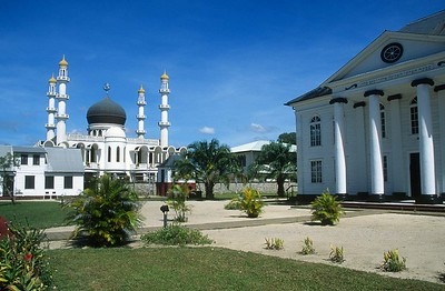 Paramaribo - Mosque and Synagoge