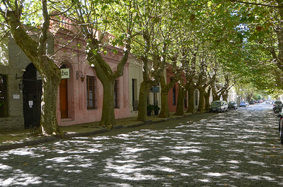 The shaded, cobblestoned streets...