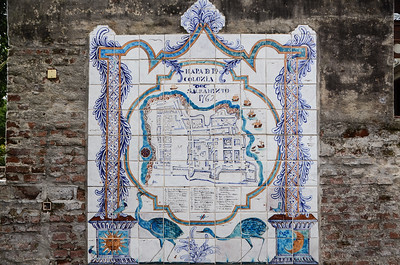 Old tiled map of the town...